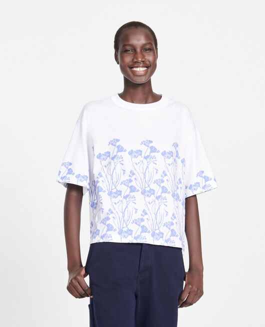 Cotton T-shirt EMPREINTE GARDENIA JEWEL