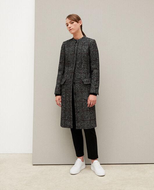 Straight fit coat Black