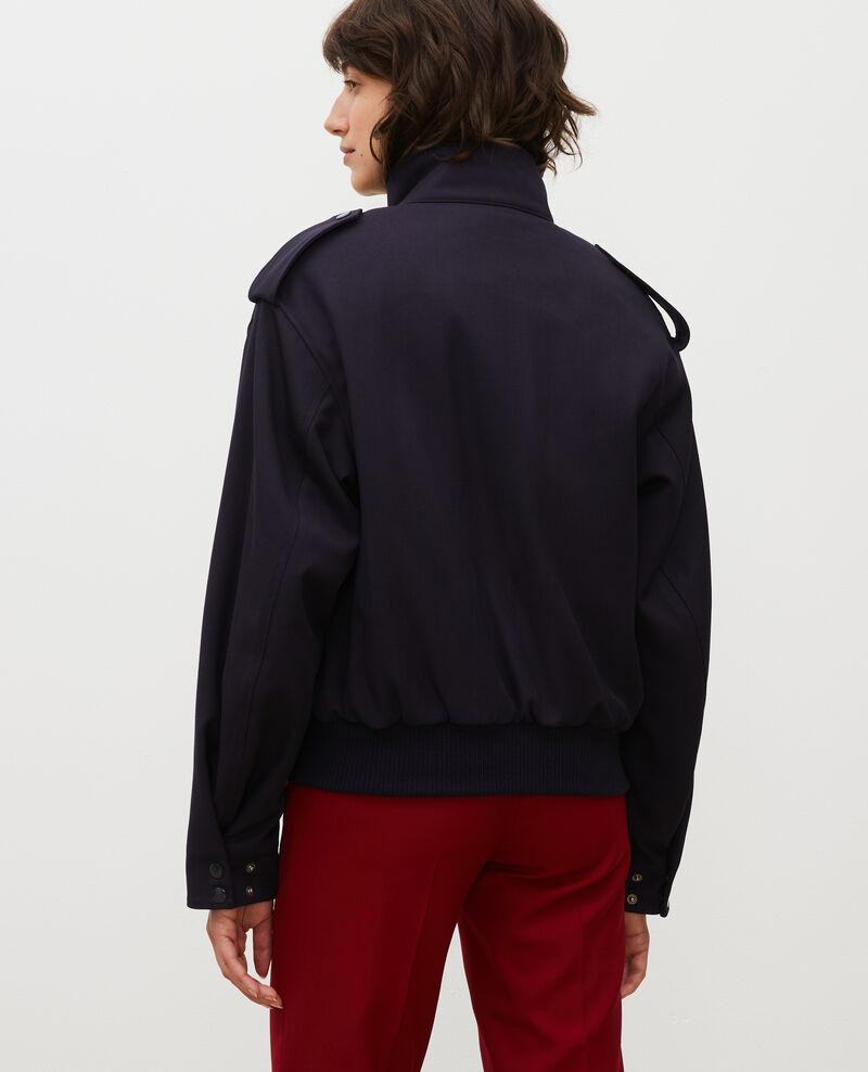 Wool gabardine aviator jacket Night sky Maulap