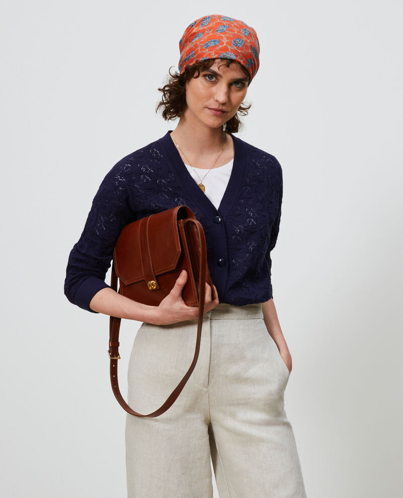 Cotton and linen cardigan Maritime blue Lafiora