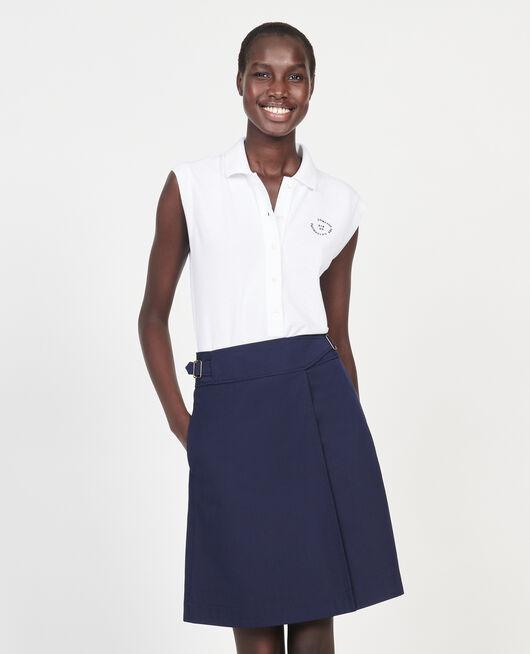 Cotton polo shirt OPTICAL WHITE