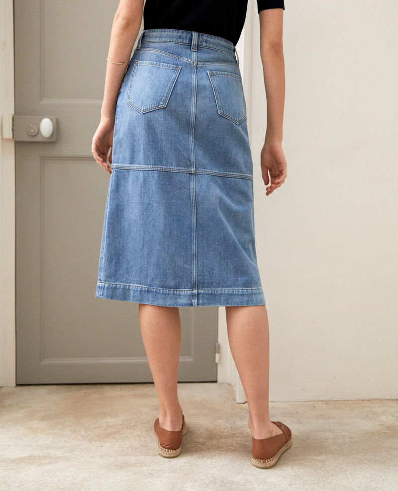 Denim skirt Light wash Iskorti