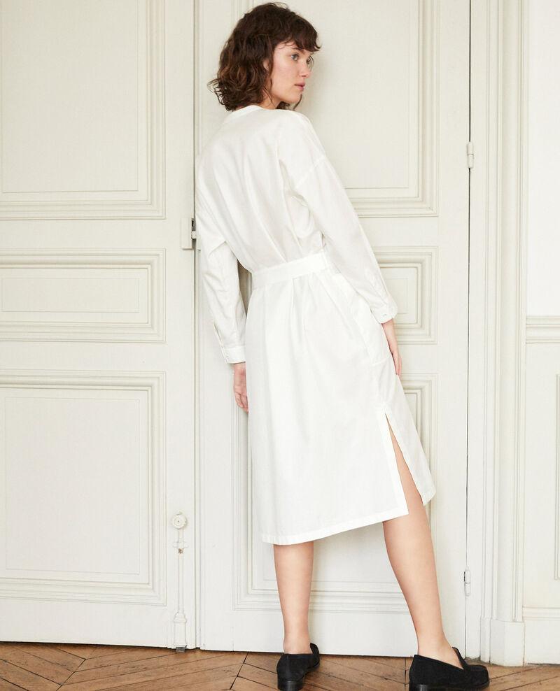 Dress with bib White Gerrone