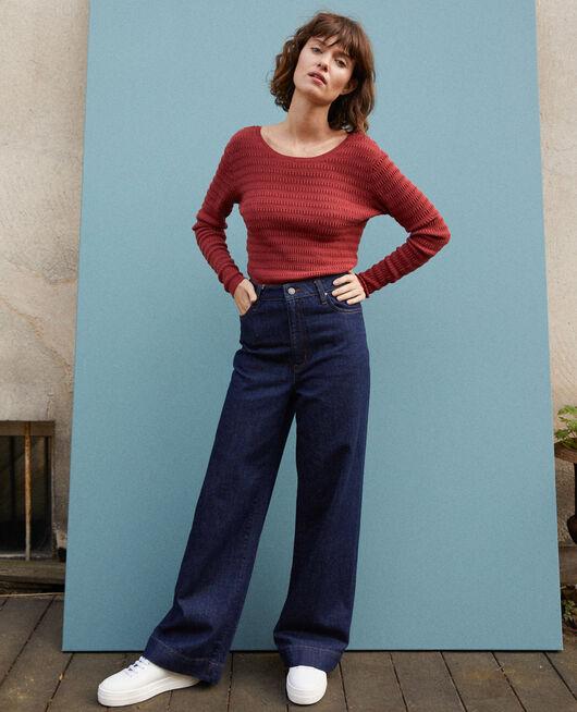 Wide full-length jeans Blue
