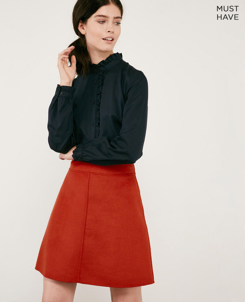 Double-faced wool skirt Rust Driage