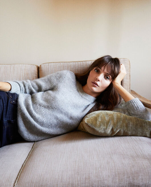 Novelty knit jumper MEDIUM GREY
