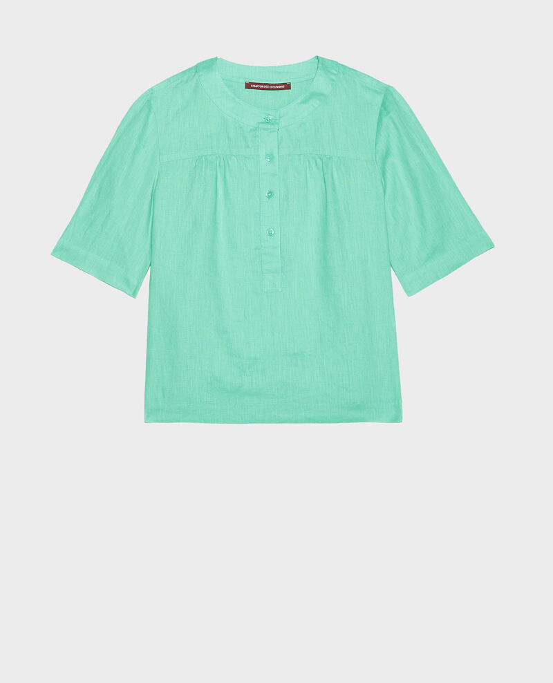 Linen blouse Jade cream Lantoine