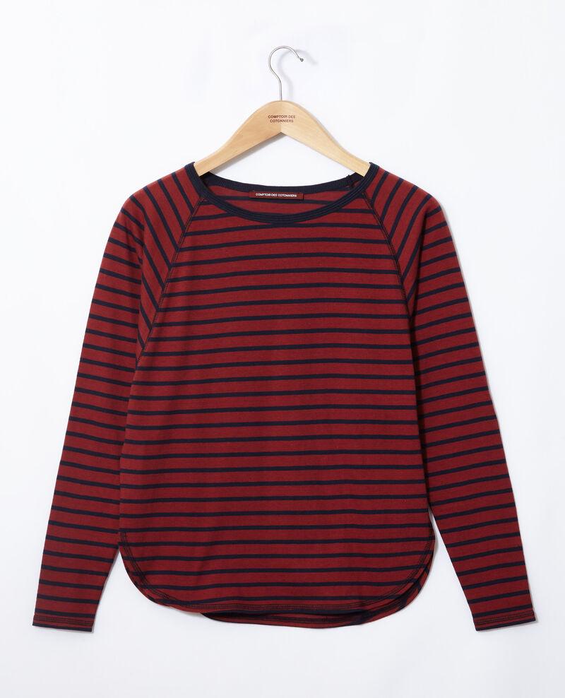 Striped T-shirt Cowhide/peacoat Gainde