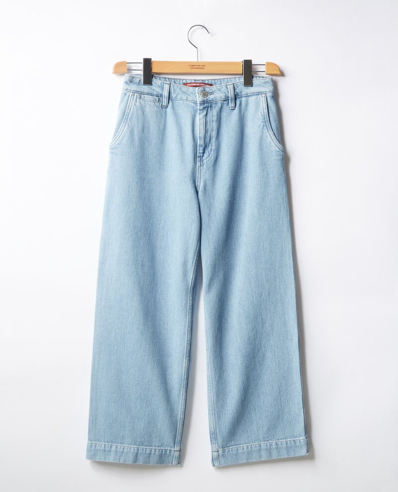 Wide cropped jeans Light indigo Fropigo