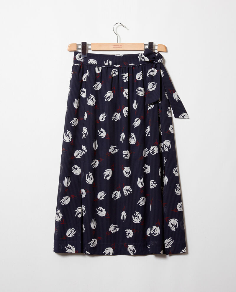 Wrap skirt Tulip evening blue Jaude