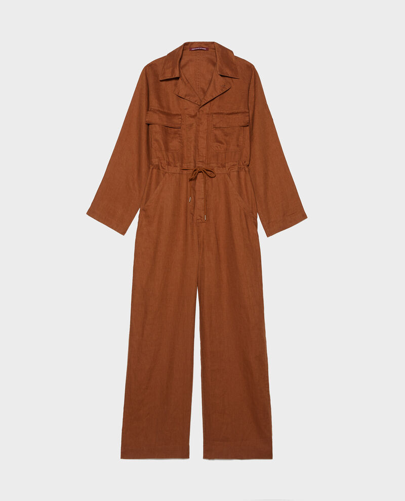 Long linen jumpsuit Monks robe Lachassain