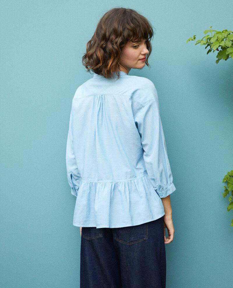 Peplum blouse Adriatic blue Garniture