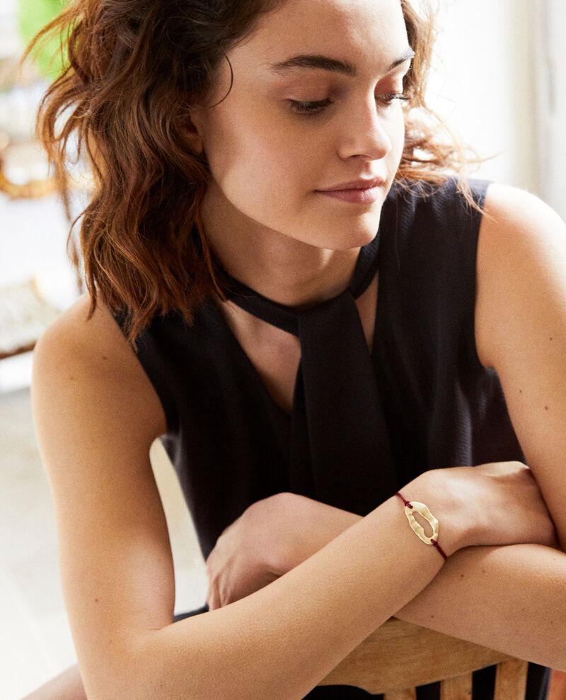 Metal bracelet Gold/burgundy Iseala