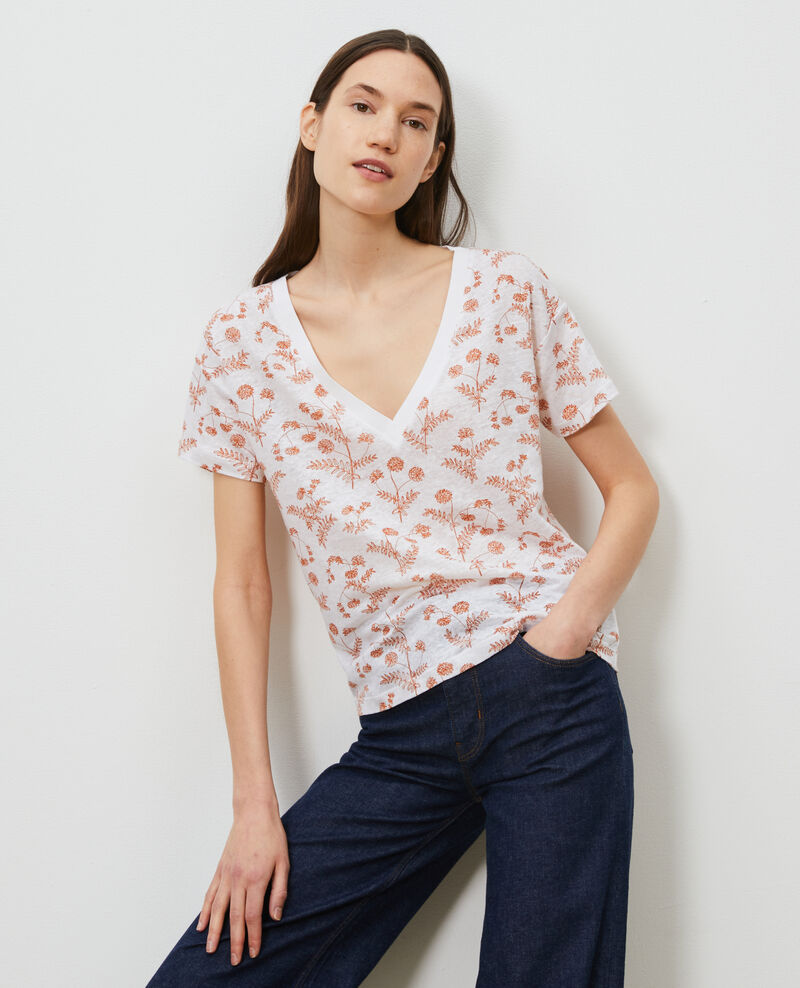 Linen V-neck t-shirt Coronille optical Nayeli
