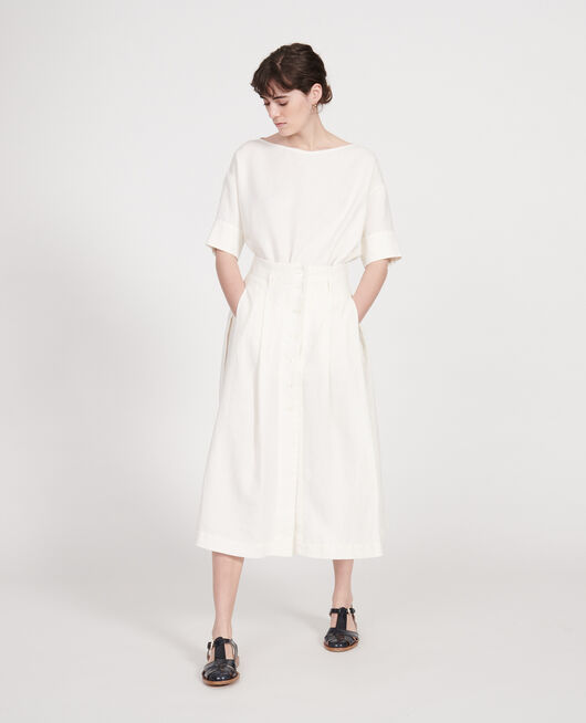 Loose linen skirt GARDENIA