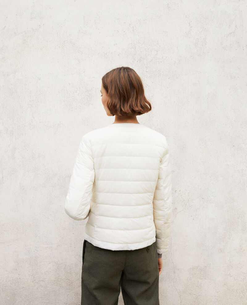 Iconic Mademoiselle Plume down jacket Light grey/off white Illopou