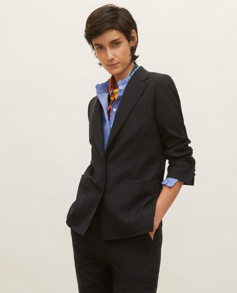 Lightweight smooth wool blazer Black beauty Luscade