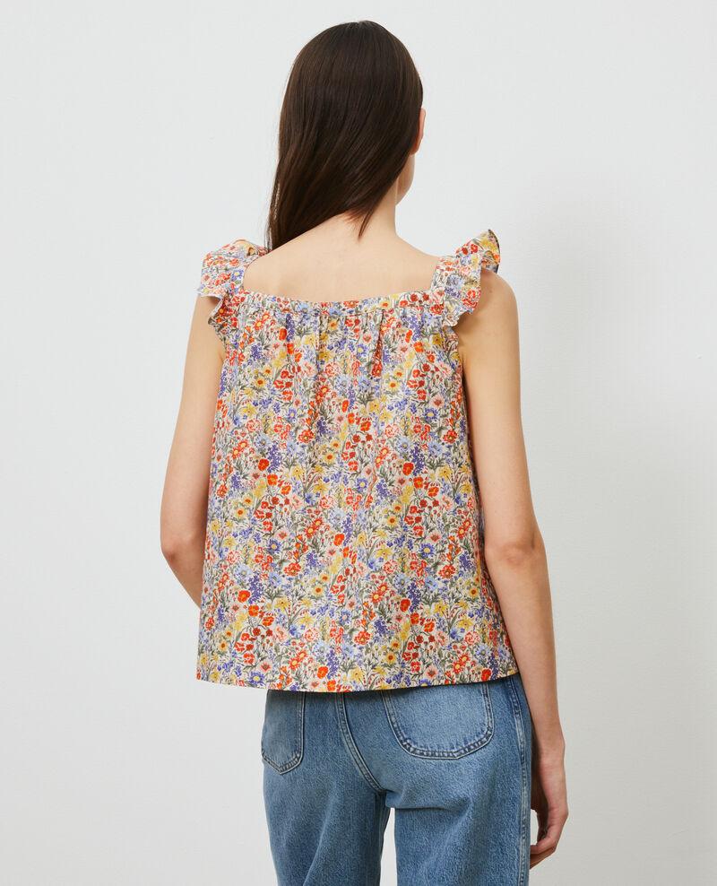 Cotton and silk strappy top Prairie gardenia Nympha