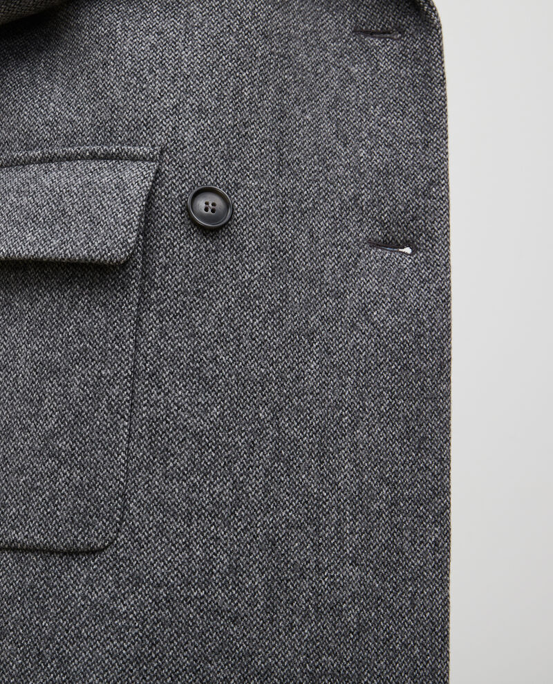 Oversize double-breasted wool overcoat Medium grey melange Massily