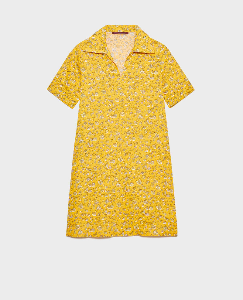 Linen tunic dress Indie-small-yellow Noaillesse