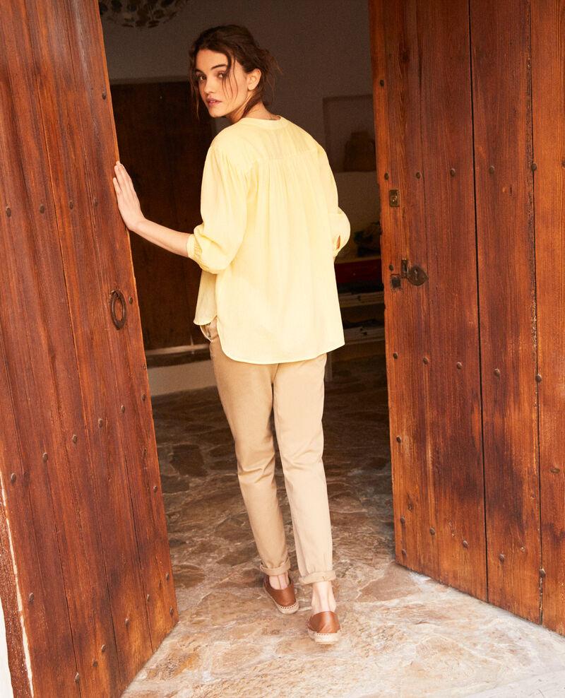 Round neck blouse Spice yellow Idalia