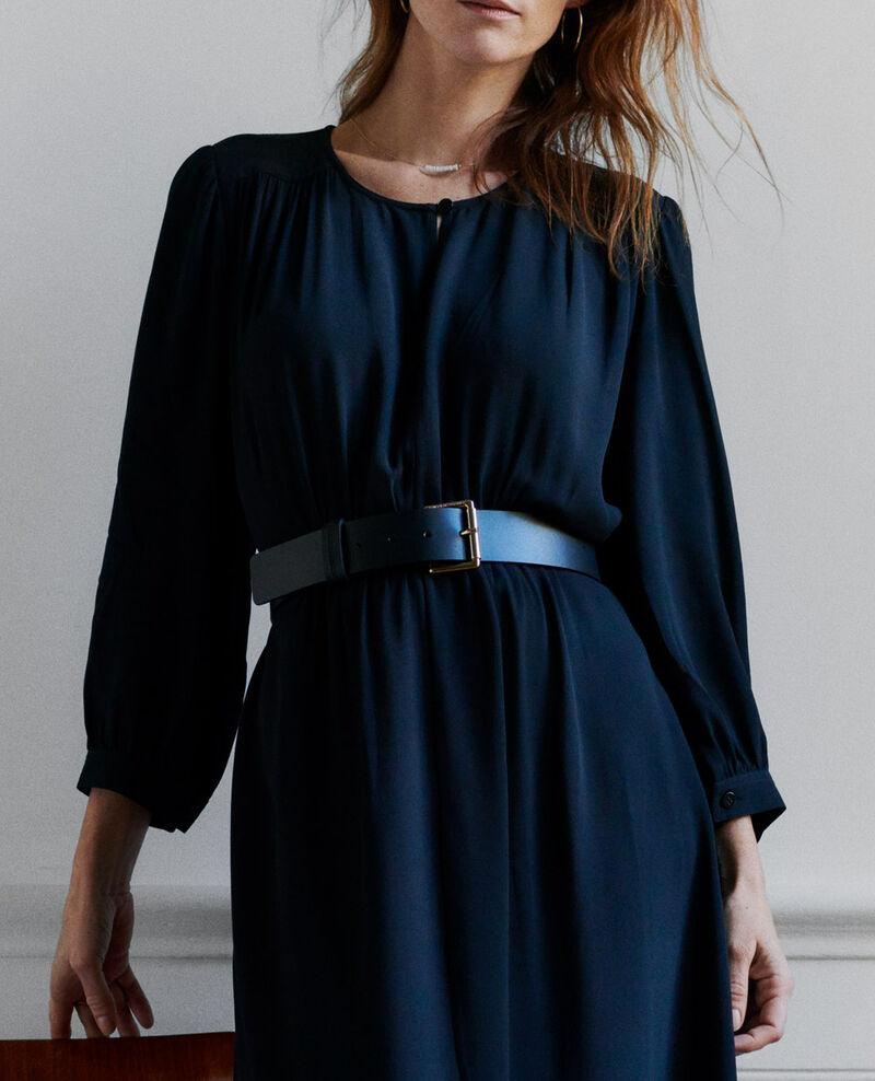 Wide leather belt Black beauty Narcis