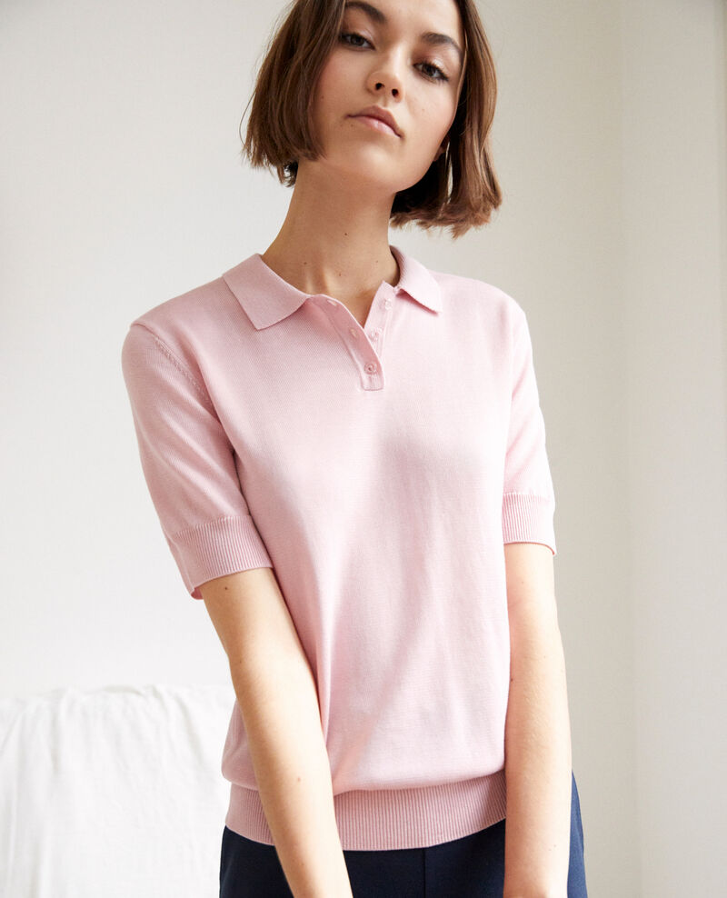 Knit polo Pink icing Iconera