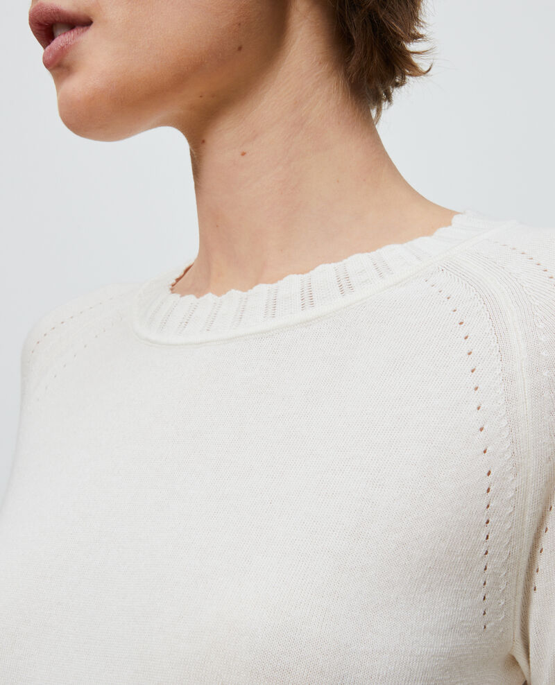 Cotton and silk jumper Gardenia Nita