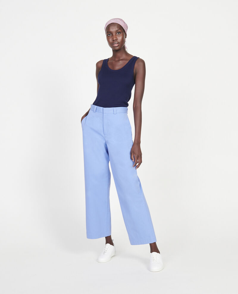Cotton boyfriend trousers Persian jewel Lodrey