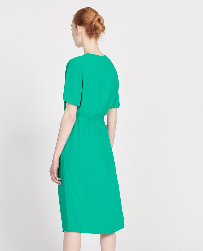 Straight and loose dress Golf green Legris
