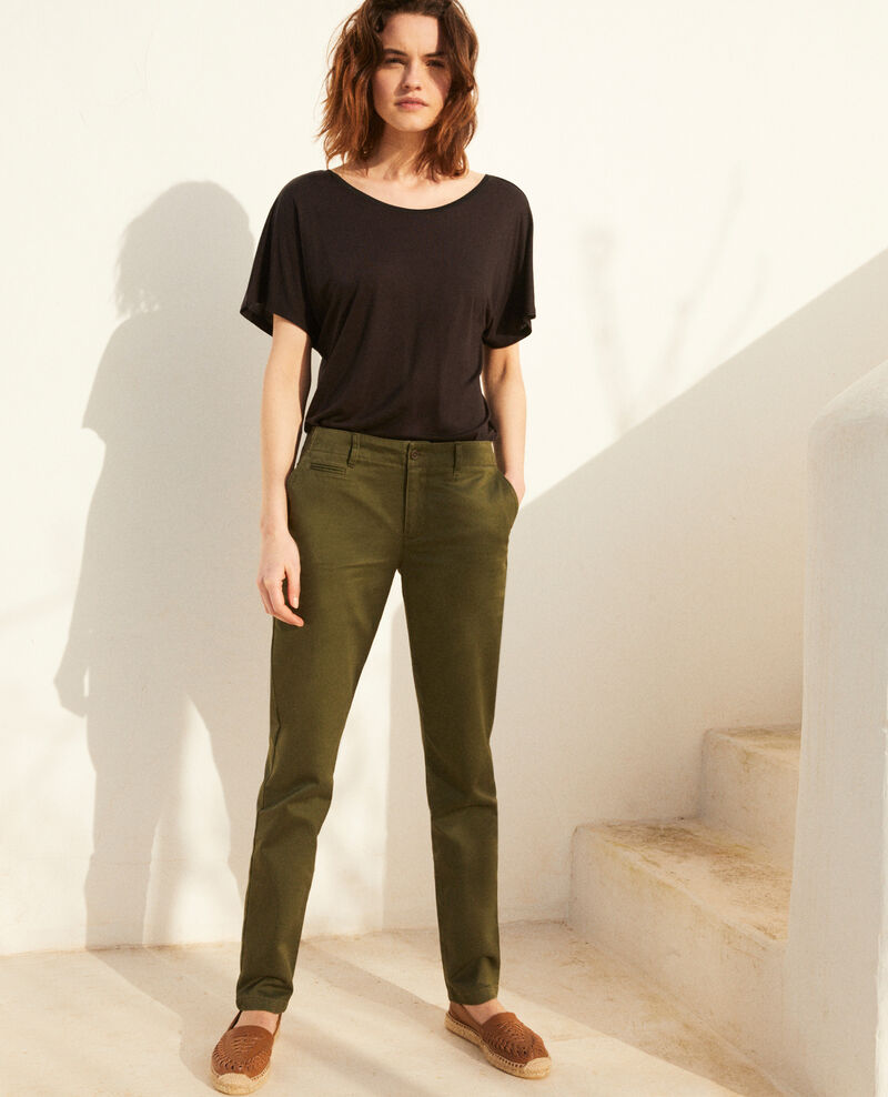 Canvas trousers Cheng olive Irouba