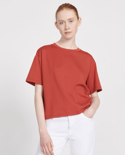 Mercerised cotton Oversize t-shirt KETCHUP