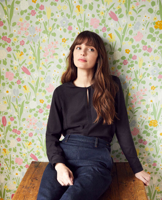 Embroidered blouse NOIR