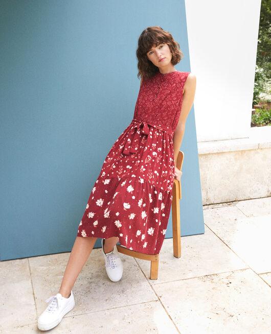 Printed dress ANTHEMIS BLOOM RIO RED