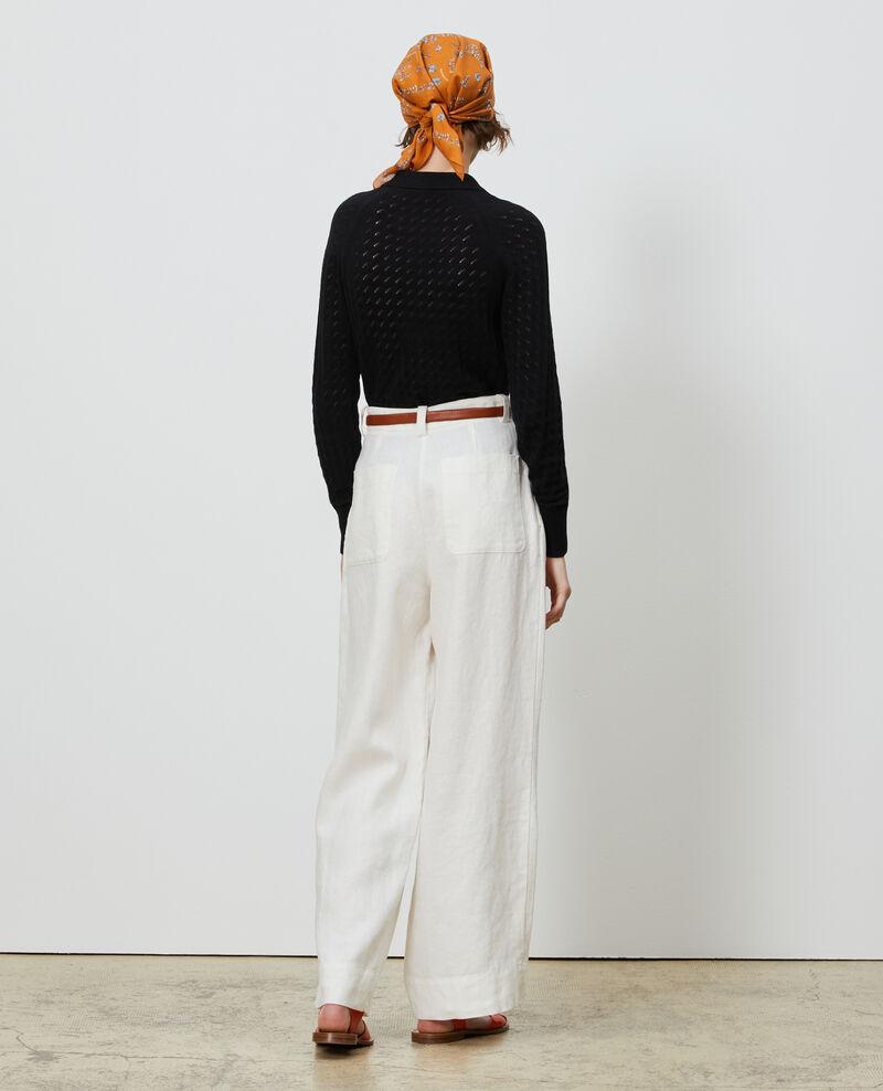 Linen high-waisted trousers YVONNE Gardenia Lafare