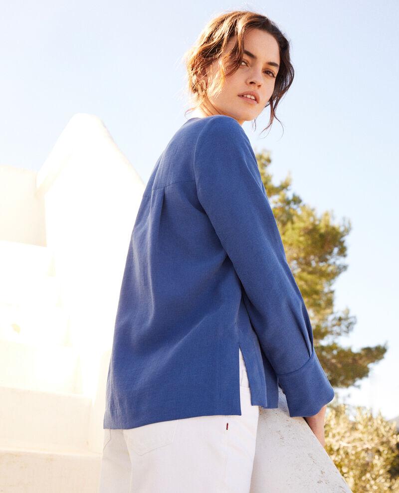 Henley blouse Imperial blue Iepsi