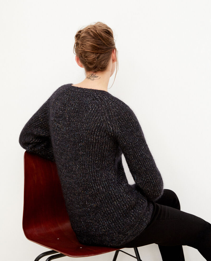 Jumper with mohair and lurex Black Gadeaux