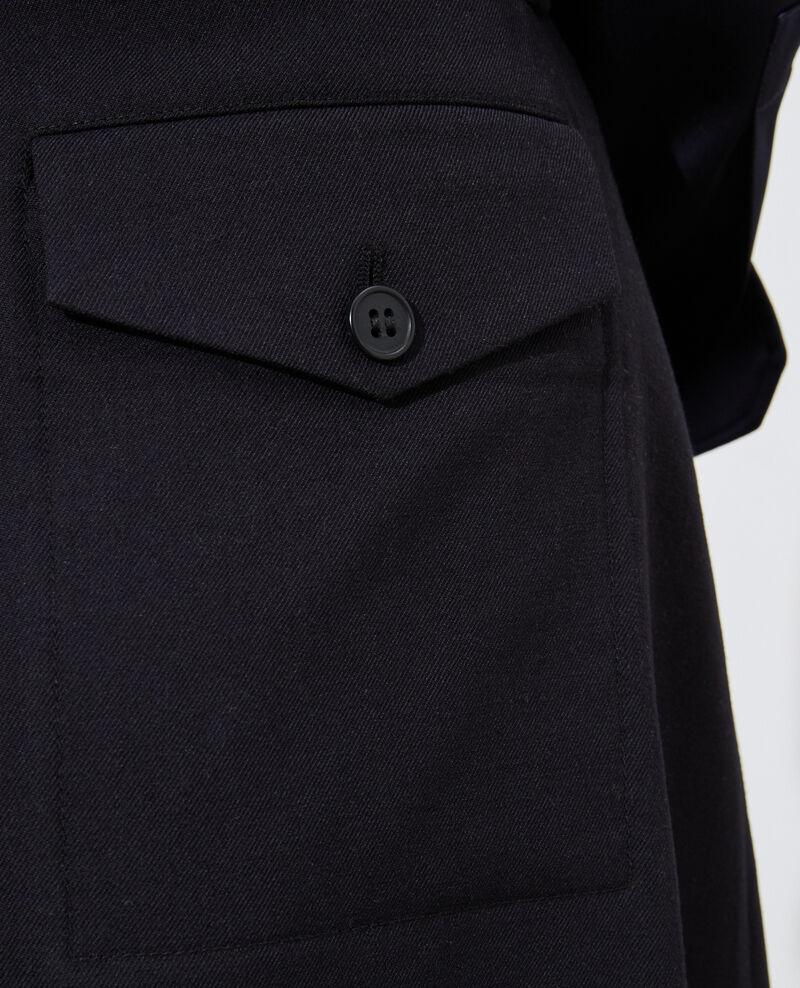 Wool wrap skirt Black beauty Padarac