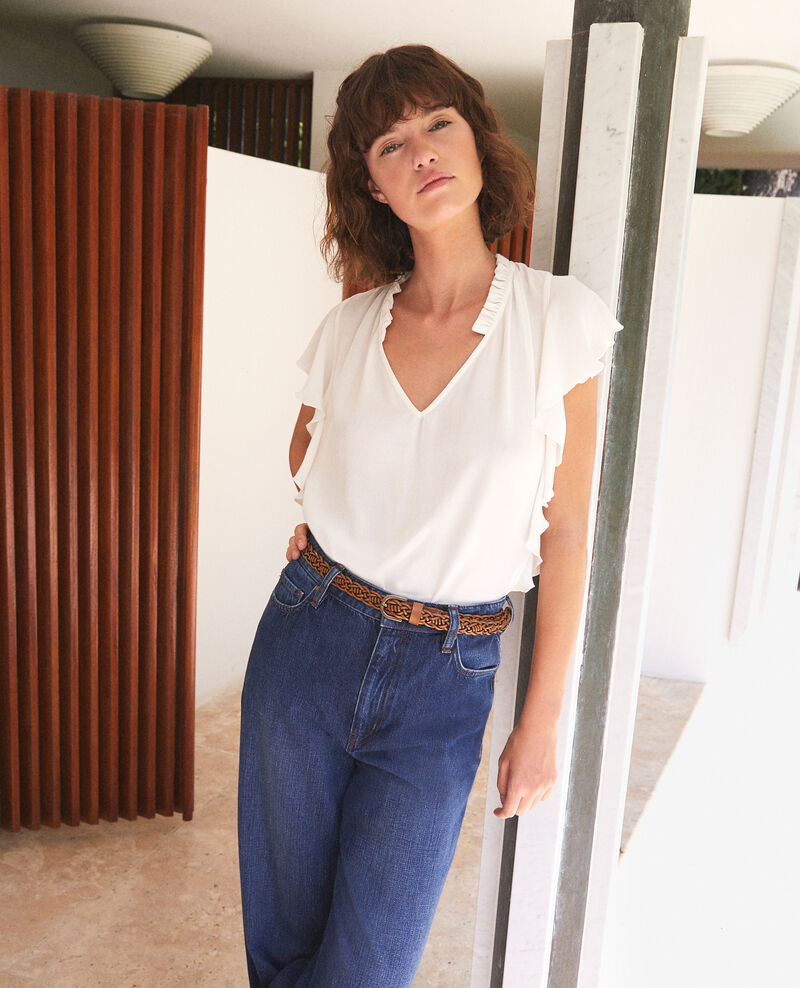 Frilly blouse White Fretillant