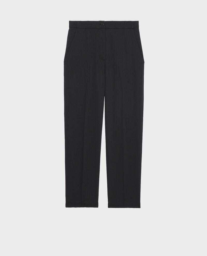 Elasticated 7/8 trousers MARGUERITE Black beauty Napoli