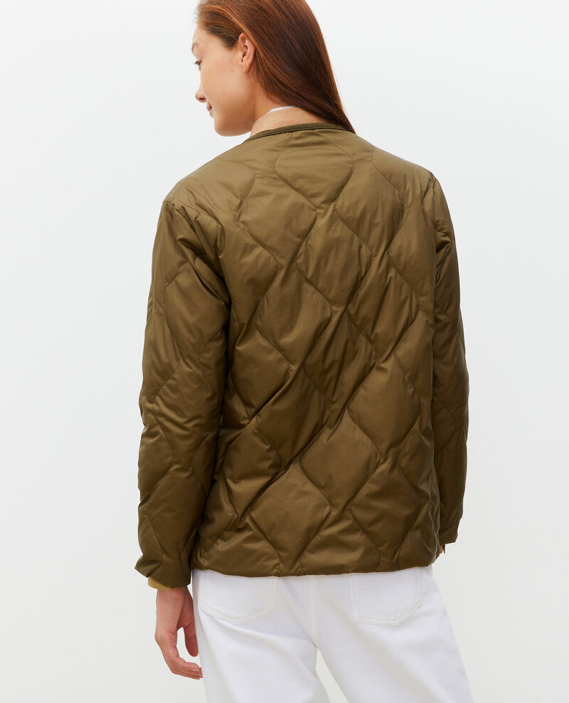 Oversize V-neck down jacket  Military green Matra