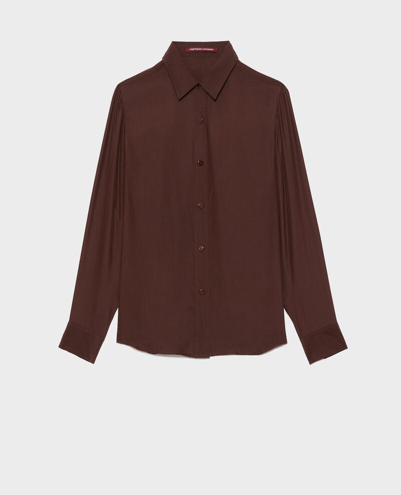 Long-sleeve silk men's shirt Coffee bean Moriges