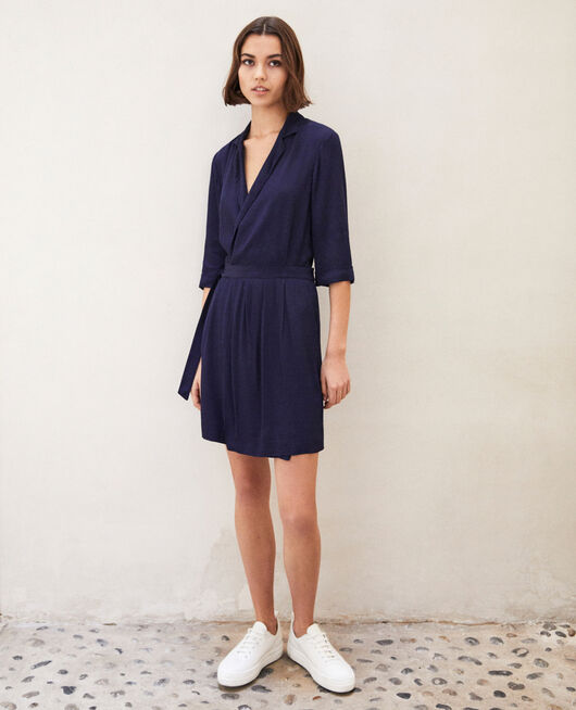 Wrap dress PEACOAT