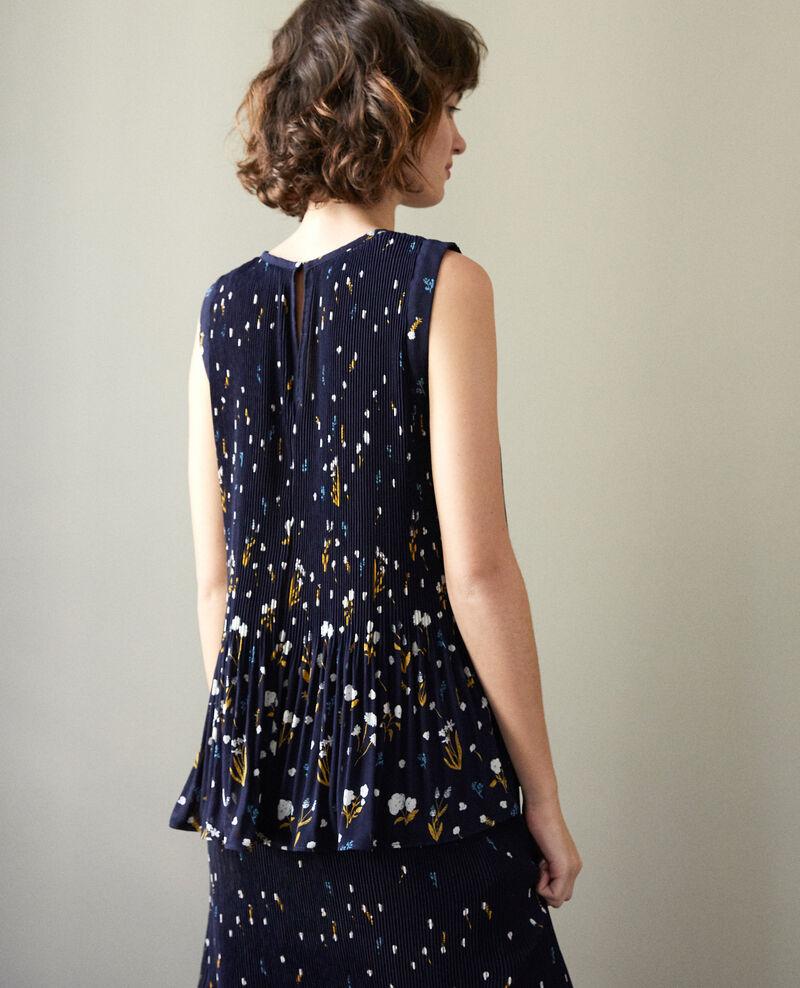 Pleated blouse Blue Ganse