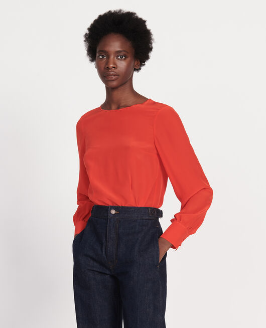 Embroidered blouse FIERY RED