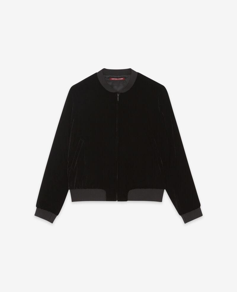 Velour bomber jacket Noir Dampierre