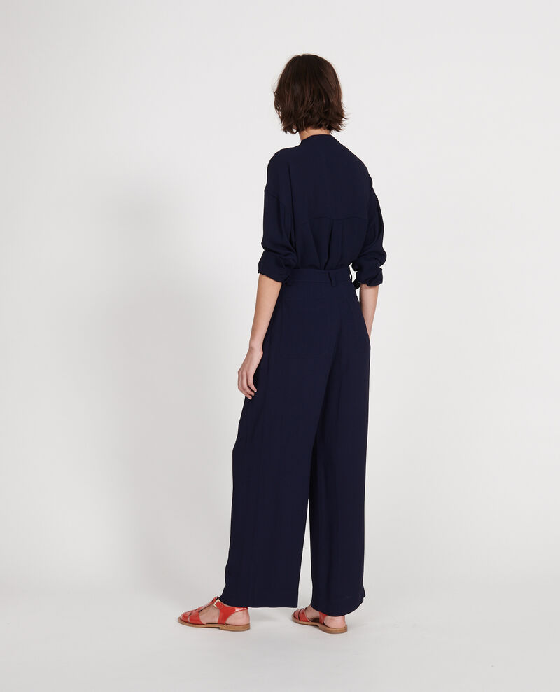 Straight-cut blouse Maritime blue Lorleau