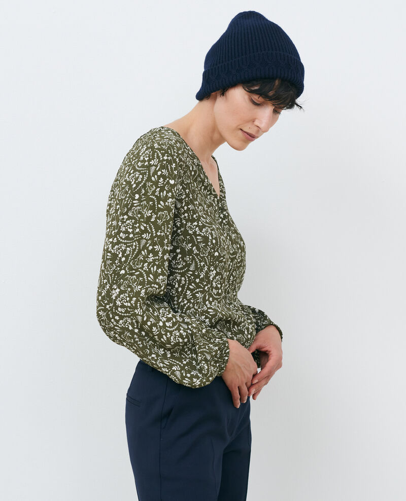 Printed blouse Cyanotype olive Prince