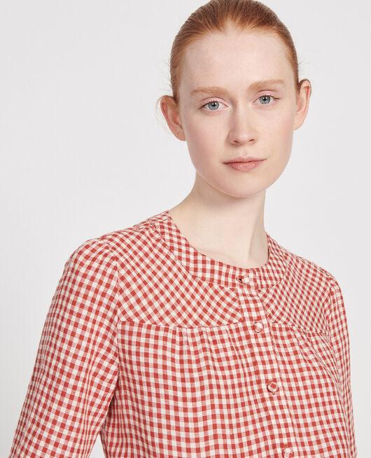 Linen blouse VICHY KETCHUP BUTTERCREAM