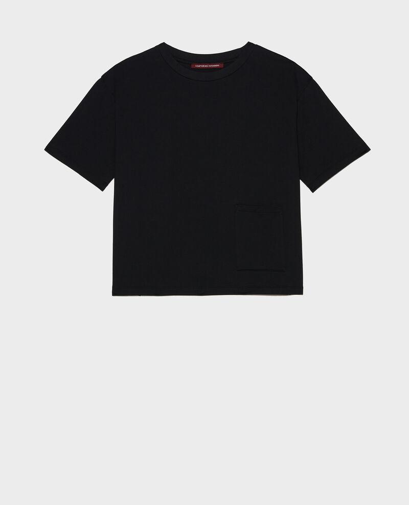 Mercerised cotton Oversize t-shirt Black beauty Lexana